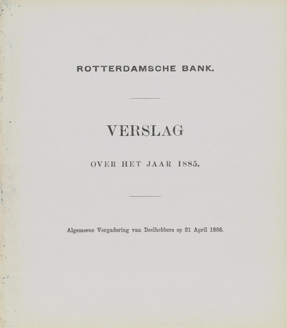 Rotterdamsche Bank 1885