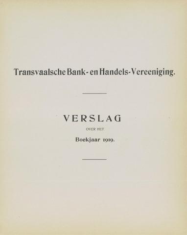 Transvaalsche Bank- en Handelsvereeniging 1919