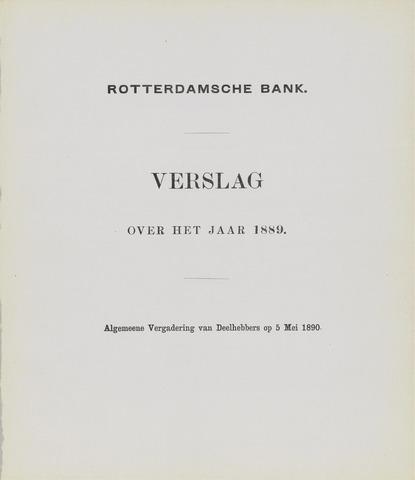Rotterdamsche Bank 1889