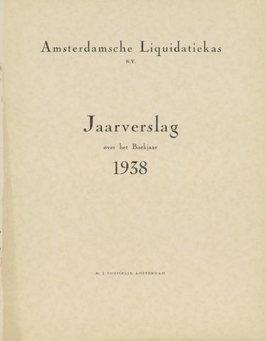 Amsterdamsche Liquidatiekas - Amsterdamsche Goederenbank 1938