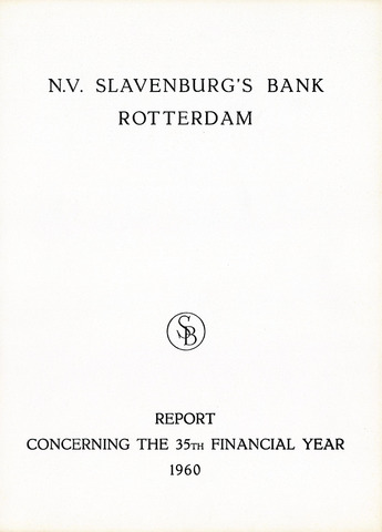 Slavenburg's Bank 1960
