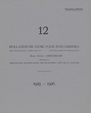 Hollandsche Bank voor Zuid-Amerika 1925