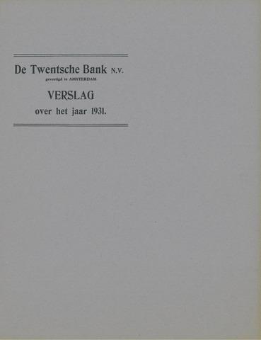 Twentsche Bank 1931