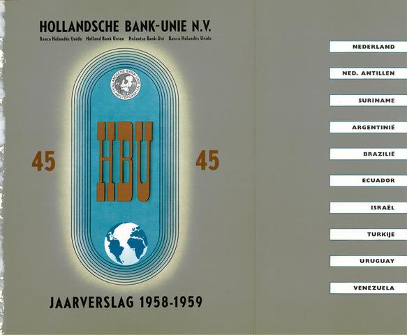 Hollandsche Bank-Unie 1958