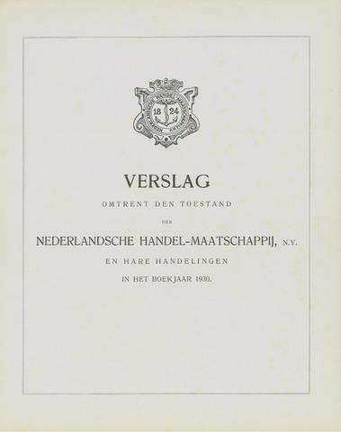 Nederlandsche Handel-Maatschappij 1930