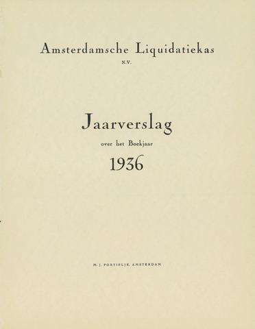 Amsterdamsche Liquidatiekas - Amsterdamsche Goederenbank 1936
