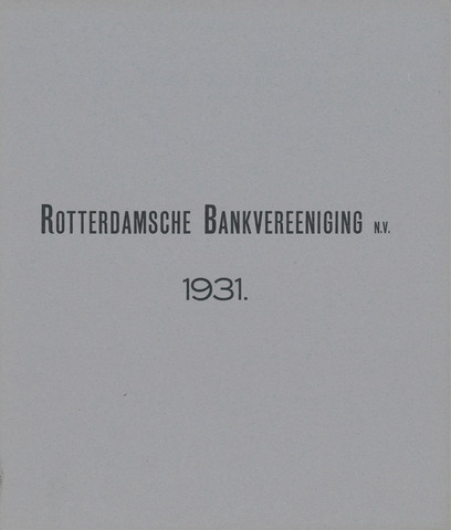 Rotterdamsche Bank 1931