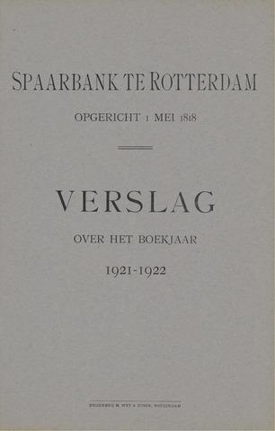 Spaarbank te Rotterdam 1921