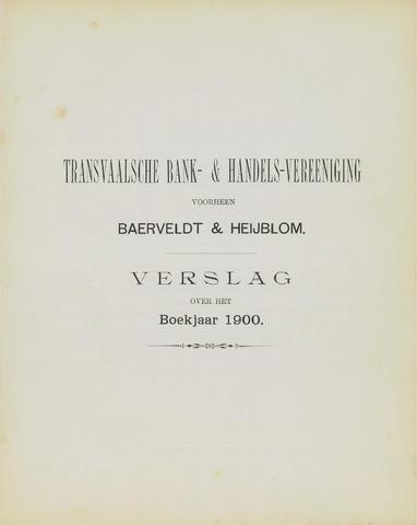 Transvaalsche Bank- en Handelsvereeniging 1900