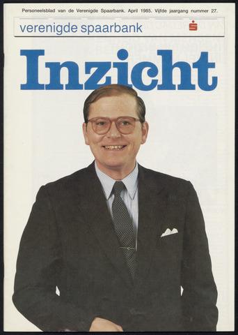 Verenigde Spaarbank - InZicht 1985