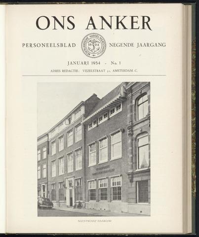 Nederlandsche Handel-Maatschappij - Ons Anker 1954