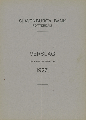 Slavenburg's Bank 1927