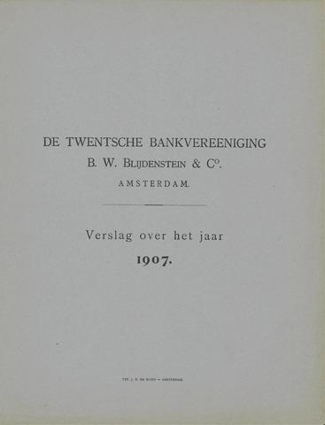 Twentsche Bank 1907