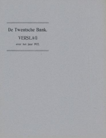 Twentsche Bank 1922