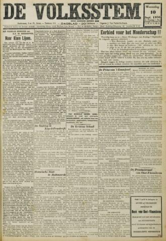 De Volksstem 1930-09-10