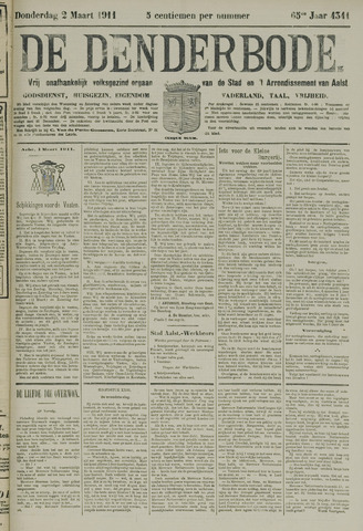 De Denderbode 1911-03-02
