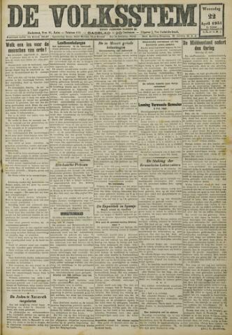De Volksstem 1931-04-22