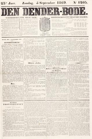 De Denderbode 1869-09-05