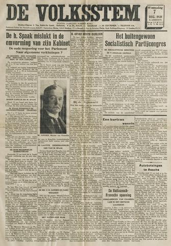 De Volksstem 1938-12-07