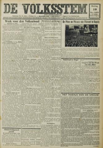 De Volksstem 1931-11-10