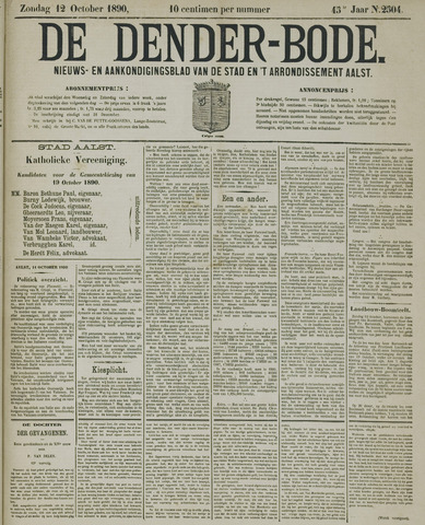 De Denderbode 1890-10-12