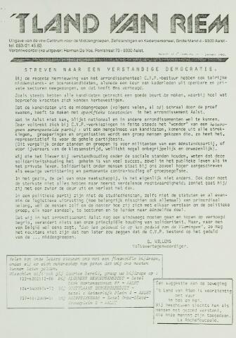 't Land van Riem 1982