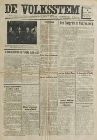 De Volksstem 1938-09-07