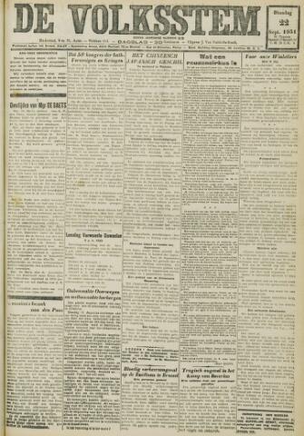 De Volksstem 1931-09-22