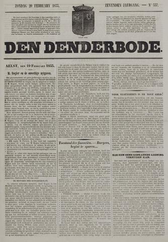 De Denderbode 1853-02-20