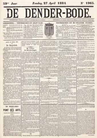 De Denderbode 1884-04-27