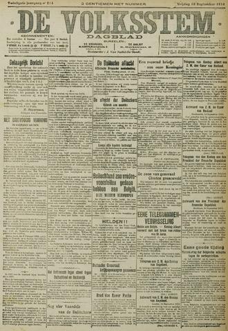 De Volksstem 1914-09-18