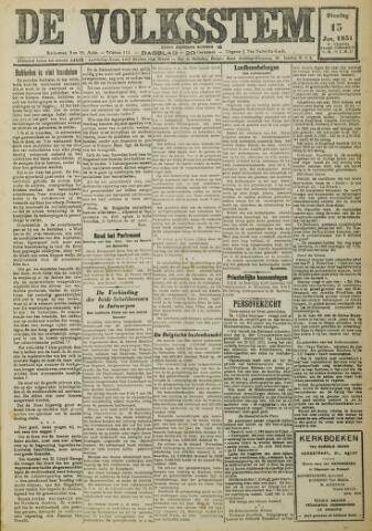 De Volksstem 1931-01-13
