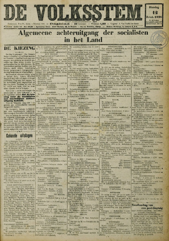 De Volksstem 1926-10-12