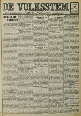 De Volksstem 1926-02-27