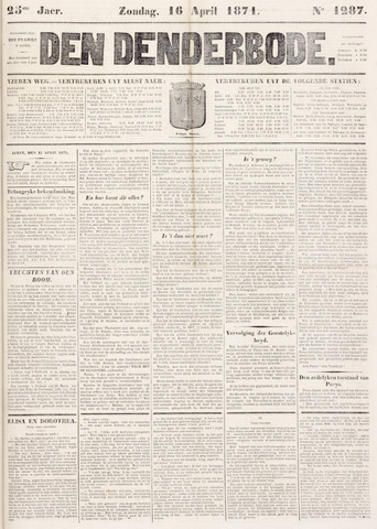 De Denderbode 1871-04-16