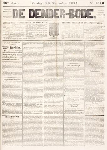 De Denderbode 1871-11-26