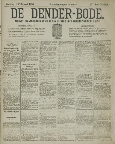 De Denderbode 1891-02-01