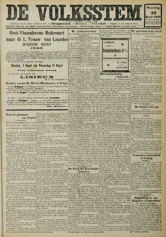 De Volksstem 1926-03-10