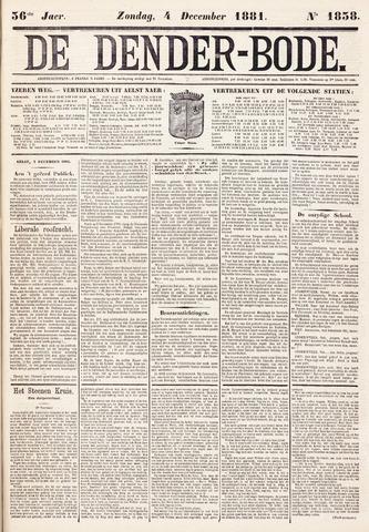 De Denderbode 1881-12-04