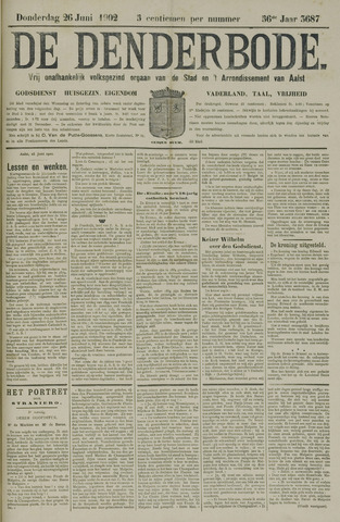 De Denderbode 1902-06-26