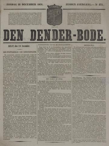 De Denderbode 1851-12-21