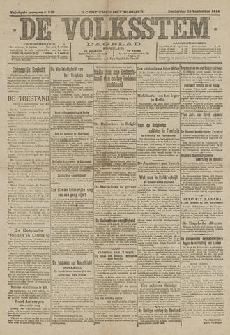 De Volksstem 1914-09-24