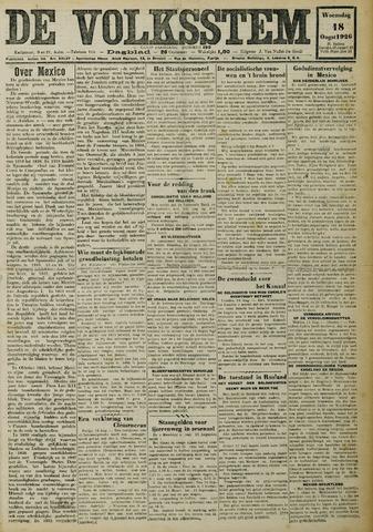 De Volksstem 1926-08-18