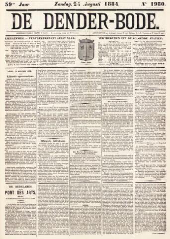 De Denderbode 1884-08-24