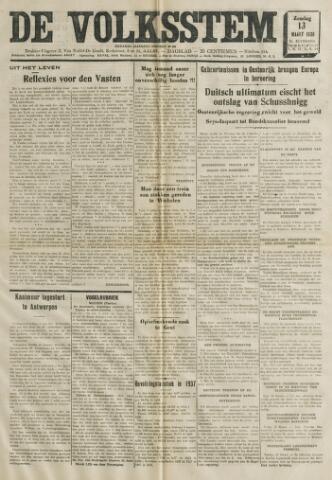 De Volksstem 1938-03-13