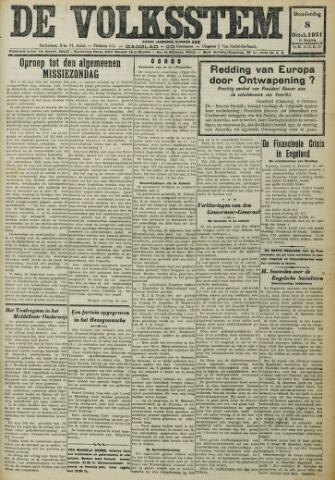 De Volksstem 1931-10-08