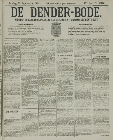 De Denderbode 1891-09-27