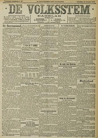 De Volksstem 1914-01-13