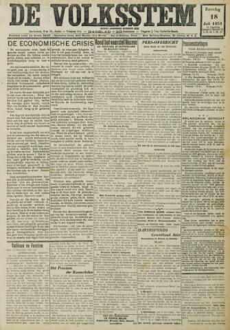 De Volksstem 1931-07-18