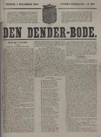 De Denderbode 1850-12-01